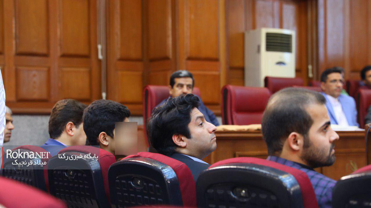 پسر میترا استاد در دادگاه